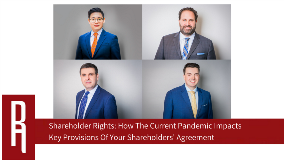 Shareholder Rights_How The Current Pandemic Impacts Key Provisions Of Your Shareholders' Agreement