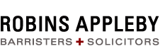 Robins Appleby Barristers + Solicitors Wordmark